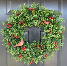 decorating love the design of exciting boxwood wreath with metal