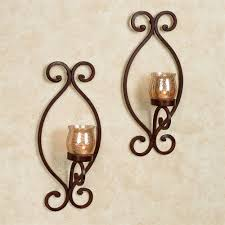 Iron Wall Sconce Euria Iron Wall Sconce Pair With Tealight Candles