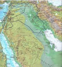 Middle East Physical Map by Online Maps Middle East Relief Map