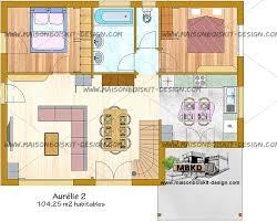 plan etage 4 chambres plan maison 100m2 a etage plan habillé rdc maison maison
