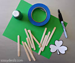 st patrick u0027s day popsicle stick craft diy puzzles crafty morning