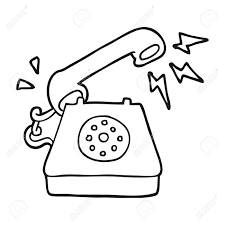 drawn telephone cartoon pencil and in color drawn telephone cartoon