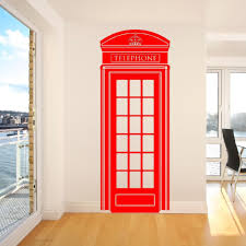 popular vinyl wall decals uk buy cheap vinyl wall decals uk lots c185 lifesize telephone box phone box uklondon telephone box wall sticker retro uk phone decal mural