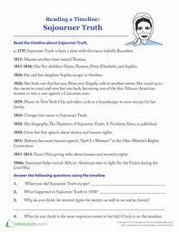 sojourner truth timeline worksheet education com