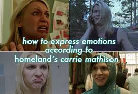 Claire Danes Cry Face Meme - how to express emotions according to homeland s carrie mathison
