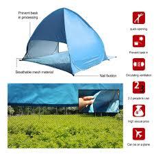 Beach Awning Summer Beach Tent Shelter Uv Protection Sun Shade Pop Up Beach