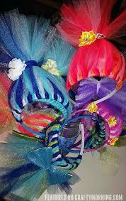 headband stand diy tulle troll headbands crafty morning