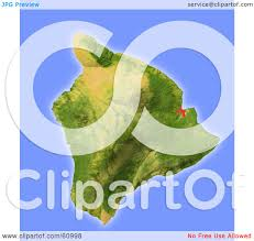 Hawaii Island Map Royalty Free Rf Clipart Illustration Of A Shaded Relief Map Of