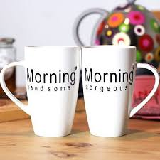 His Hers Mugs Morning Mugs His Hers Valentine U0027s Day Printed Tea Coffee Cups