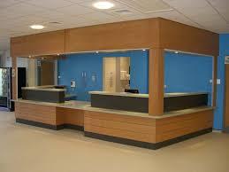 Hospital Reception Desk Local Hospital A U0026e Reception Desk In Beech Veneer With Bulkhead