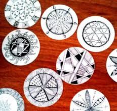 zentangle inspired art drink coasters with georgianna klein