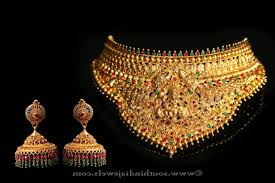 chokers necklace gold images Indian gold antique lakshmi choker necklace caymancode jpg