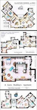seinfeld apartment floor plan hand drawn floor plans of popular tv show apartments and houses