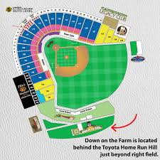 Ben Hill Griffin Stadium Map Down On The Farm At Raley Field Sacramento River Cats Fan Zone