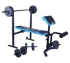 Bench Gym Equipment Buy Men U0027s Health Folding Workout Bench With 35kg Weights At Argos