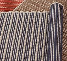 Stripe Indoor Outdoor Rug Striped Indoor Outdoor Rug Blue Pottery Barn