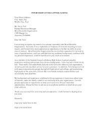 internship cover letter sle cover letter for internship position templates