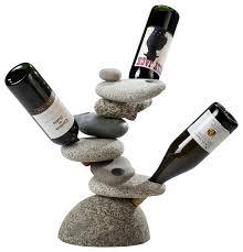 6 bottle rock wine rack contemporary wine racks by funky