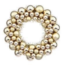 shop vickerman ball wreath 12 in indoor outdoor gold ornament