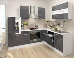 hochglanz küche respekta premium leerblock l küche 260 x 200 cm weiss grau
