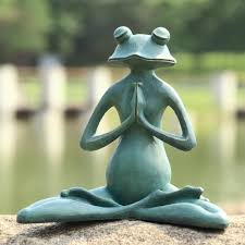 spi home 50791 meditating yoga frog garden sculpture atg stores