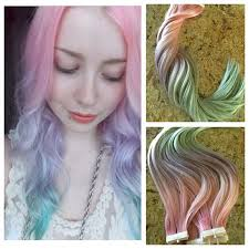 hair candy extensions ombré european remy hair extensions 40pcs dyed cotton candy