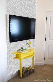 sarah m dorsey designs master bedroom trellis stencil wall complete