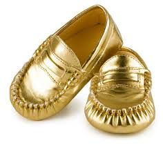 Moccasins Trumpette Gold Moccasins Baby Shoes Daintybaby Com