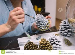 Christmas Decorations Made At Home by Making Decorations For Christmas Stock Image Image 36001311