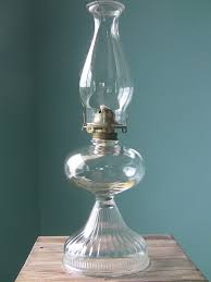this clear glass turkey foot oil lamp is a fine example of the
