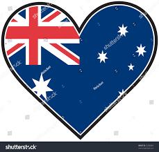 Pictures Of The Australian Flag Australian Flag Shape Heart Stock Vector 25308085 Shutterstock