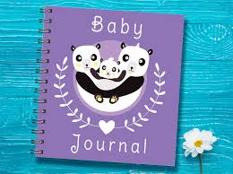 pregnancy journal book panda baby book cover baptism gift baby shower gift baby
