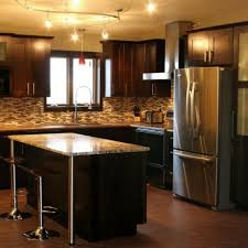 brilliant kitchen design dark wood cabinets cabinet in decor