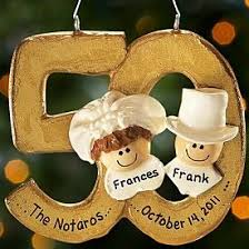 50th anniversary ornaments 12 best 50th anniversary gifts images on anniversary