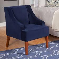 Blue Velvet Accent Chair Swoop Arm Velvet Accent Chair Homepop