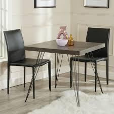 Italian Leather Dining Chairs Modern Dining Room Set With Wood Square Table With Metal Legs