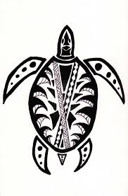 tribal print animals tribal turtle by danssketches art