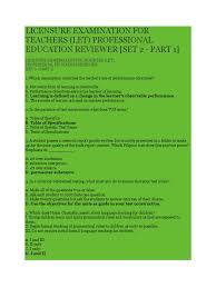 let practice test in professional education principles and strategies