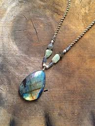 boho stone necklace images Labradorite necklace natural teardrop rainbow jpg