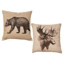 faux leather throw pillows wildlife throws lodge blankets u0026 bear pillows