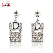 design of earing aliexpress buy juran 2017 new arrival simple alphabet design