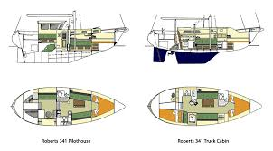 small cabin floorplans the coast 34 sailboat bluewaterboats org