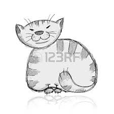funny cats sketch design with place for your text royalty free