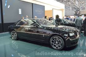 roll royce ghost all black rolls royce ghost black badge edition front quarter at 2016 geneva