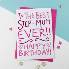 birthday card for step mum by a is for alphabet