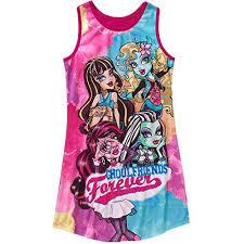 monster nightgown nightshirt big girls u0027 10 12 pink