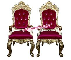 indian wedding chairs for and groom designer gold metal groom chairs for sale dstexports