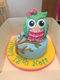 childrens cakes owl cake julie pennington heres hans next bday cake food