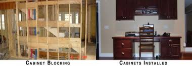 Building Kitchen Wall Cabinets by Cabinet Blocking Saves Time And Money