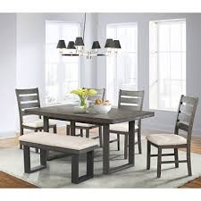 Dining Room Side Chairs Sullivan Dining Table Side Chairs And Bench 6 Set Sam S Club